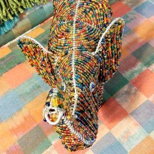 Other - Beaded Elephant Decor Animal Sculpture Home Decor